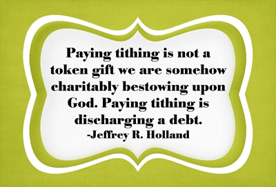 Why do we pay tithing 2 sm