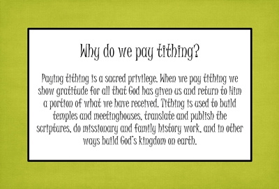 Why do we pay tithing sm