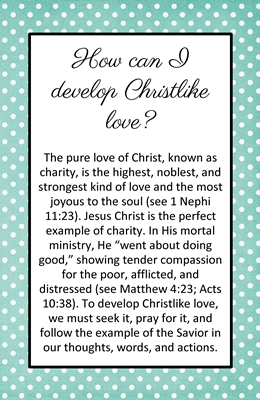 How can I develop Christlike love sm