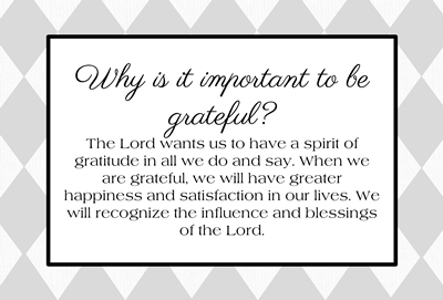 Why is it important to be grateful sm
