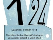 Bible and Book of Mormon Scripture Advent to print & hang on tree