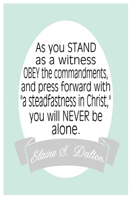 As you stand as a witness Elaine Dalton sm