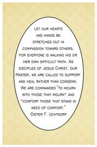 Let our hearts and hands be stretched out in compassion