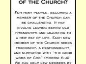 What can I do to help new members of the Church?
