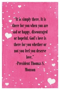 It is simple…God's Love – by Pres Monson