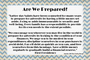 September 2014 HT Handout – Are We Prepared?