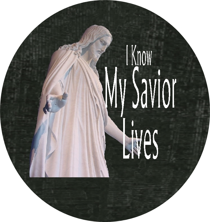 I Know My Savior Lives Bottle with image black RD