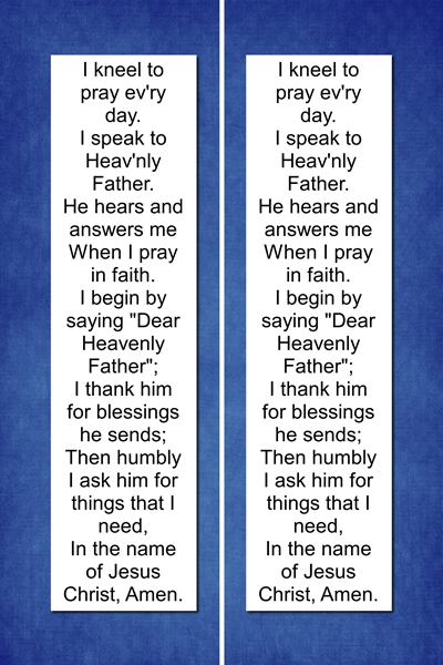 Prayer Bookmark - blue preview