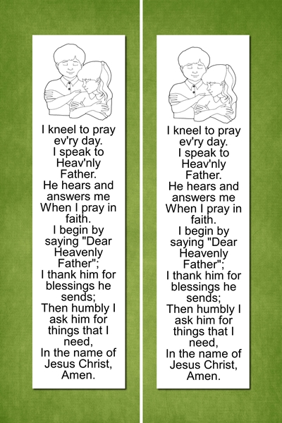 Prayer Bookmark - green preview