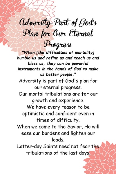 Chapter 3: Adversity—Part of God's Plan for Our Eternal Progress