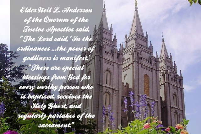 June 2016 Temple Ordinances and Covenants