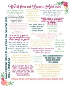 May VT Handout -April 2016 General Conference one liners