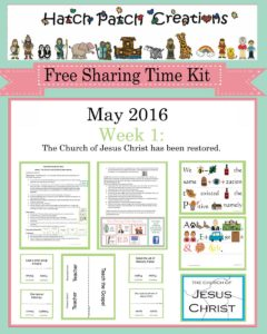 May 2016 Sharing Time Ideas