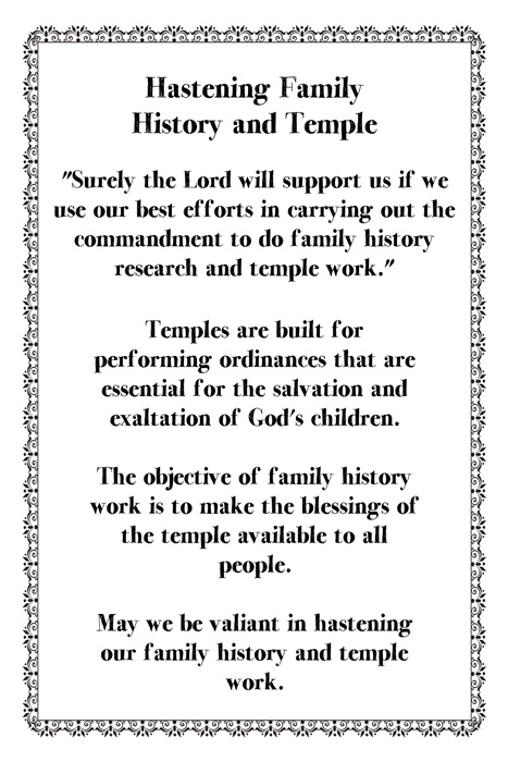 Howard W Hunter - C14Hastening Family History Temple Work
