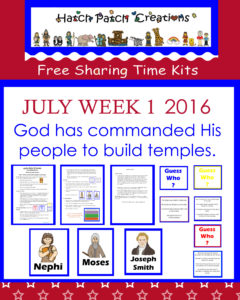 July 2016  Sharing Time  Ideas