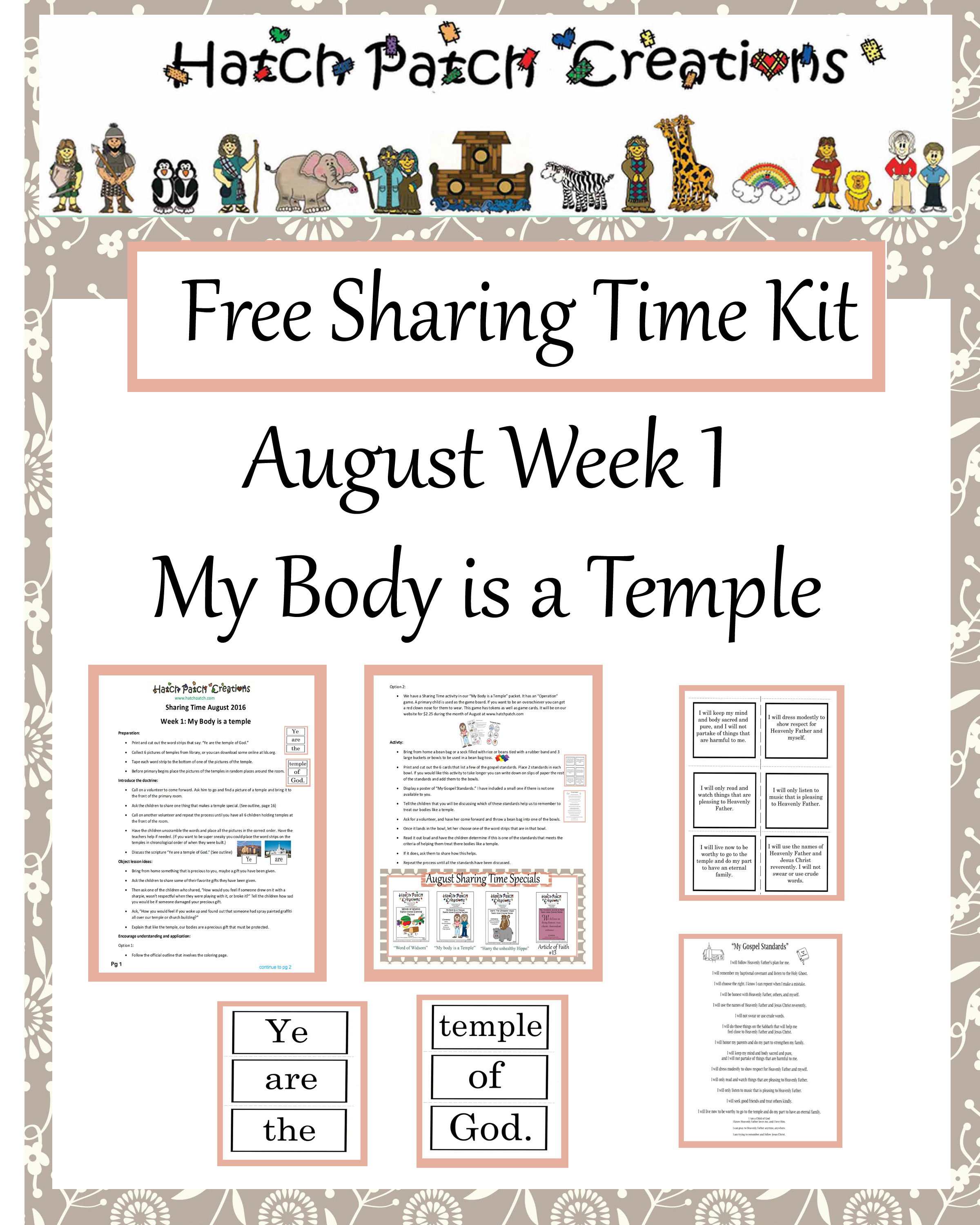 August 2016: My Body Is a Temple of God