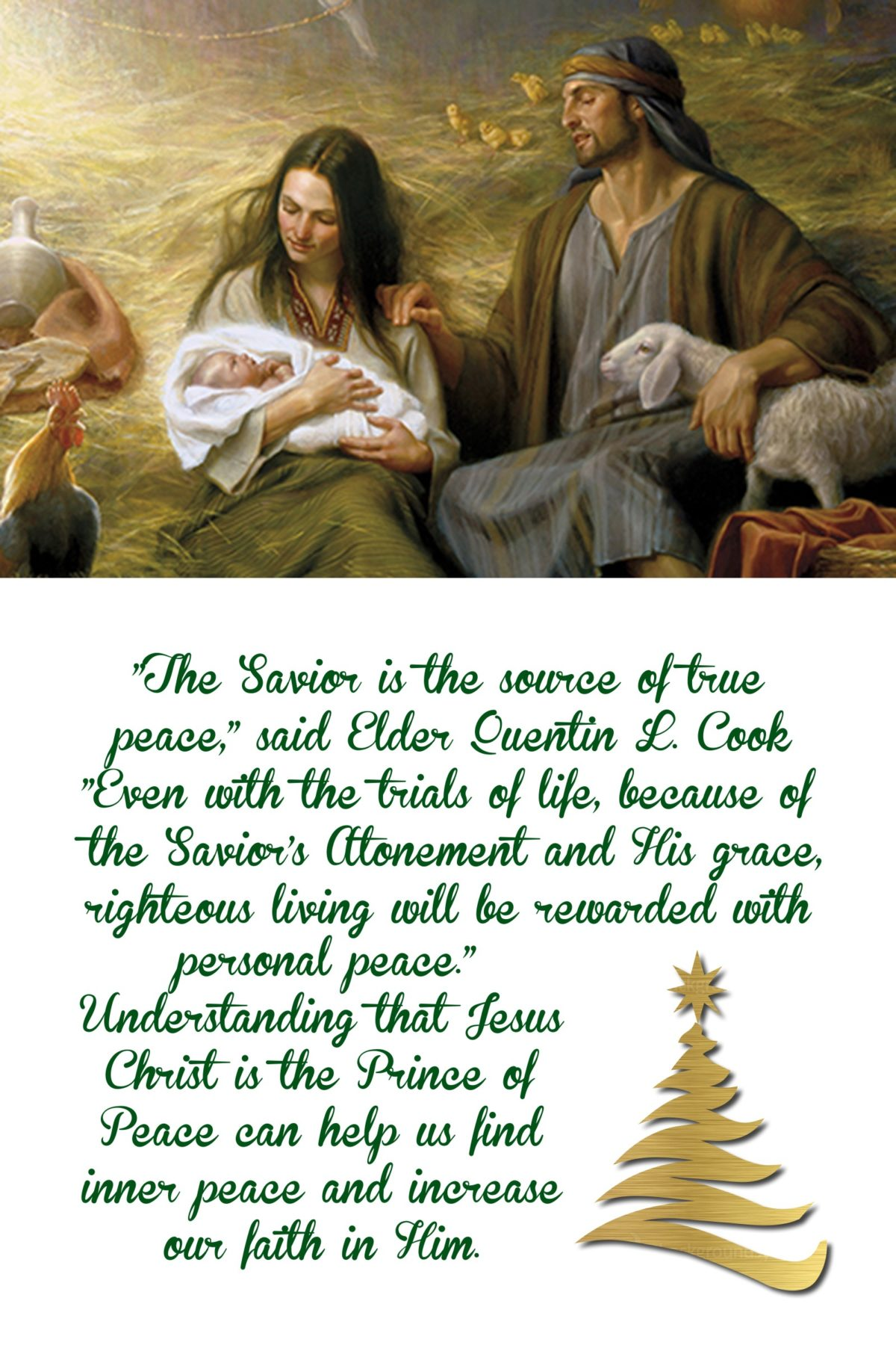 The Savior is the source of true peace…quote