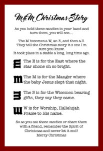 It is a graphic of Exhilarating M&m Christmas Poem Printable