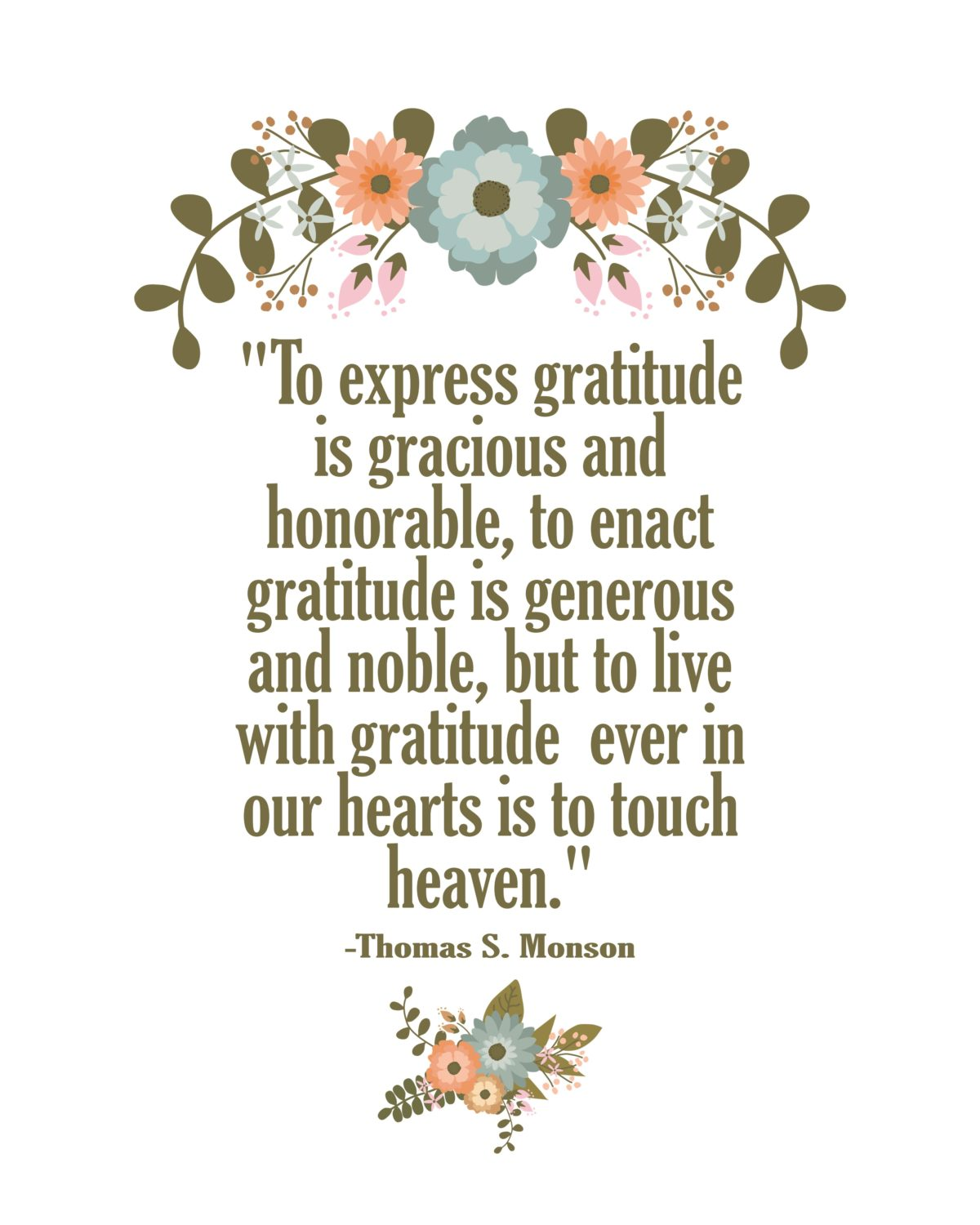 To express gratitude is gracious and honorable… quote