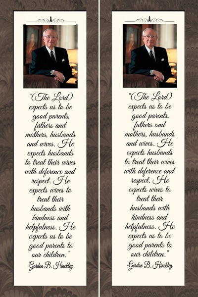 Teachings of Presidents of the Church: Gordon B. Hinckley Bookmarks