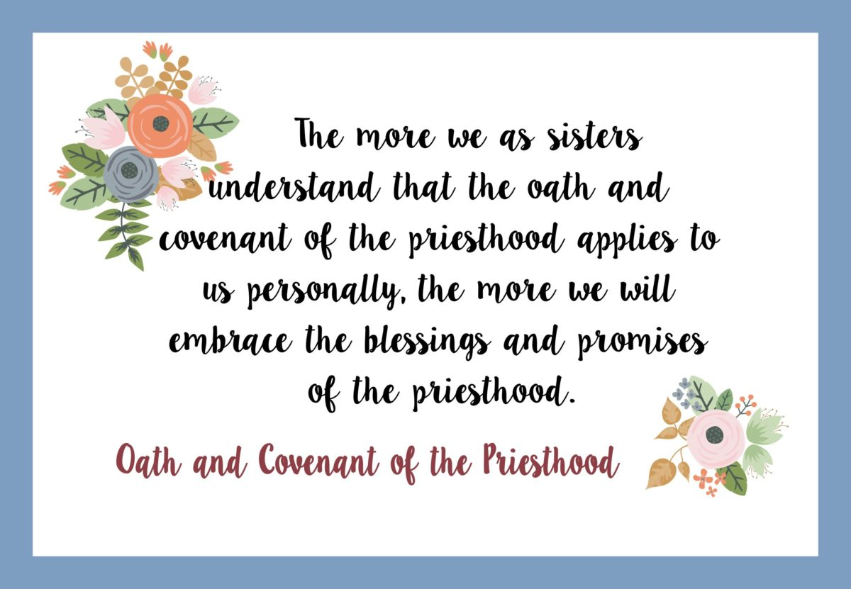 "April 2017 Visiting Teaching Handout ""Oath and Covenant of the Priesthood"""