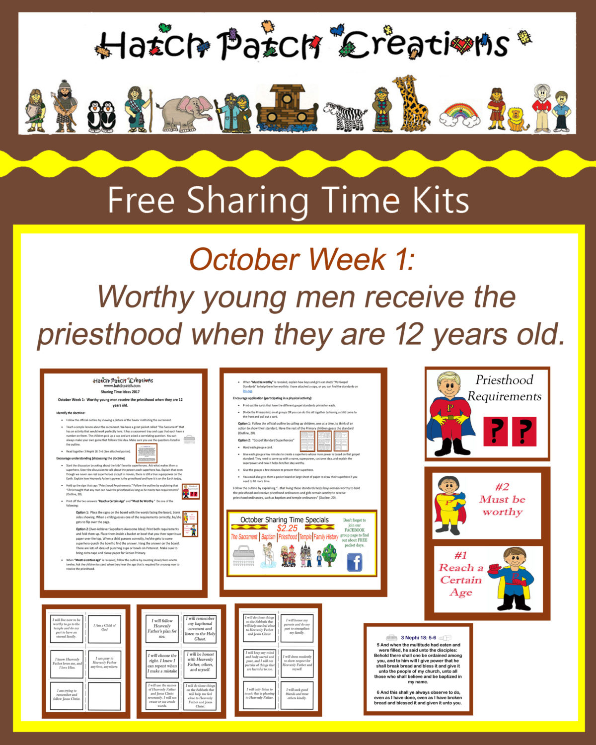 10- October 2017 Sharing Time Ideas: Blessings of the Priesthood Are Available to All