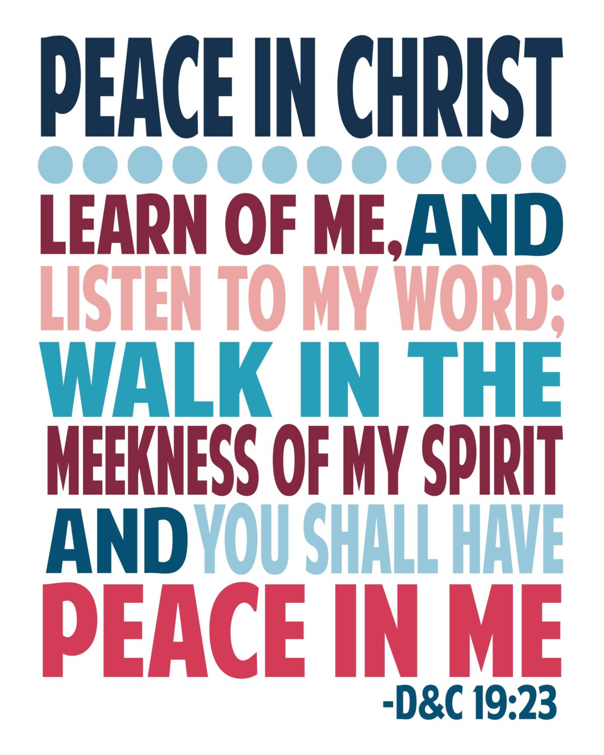 Peace in Christ Themed Posters
