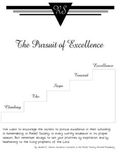 The Pursuit of Excellence – Climbing the Steps Toward Excellence