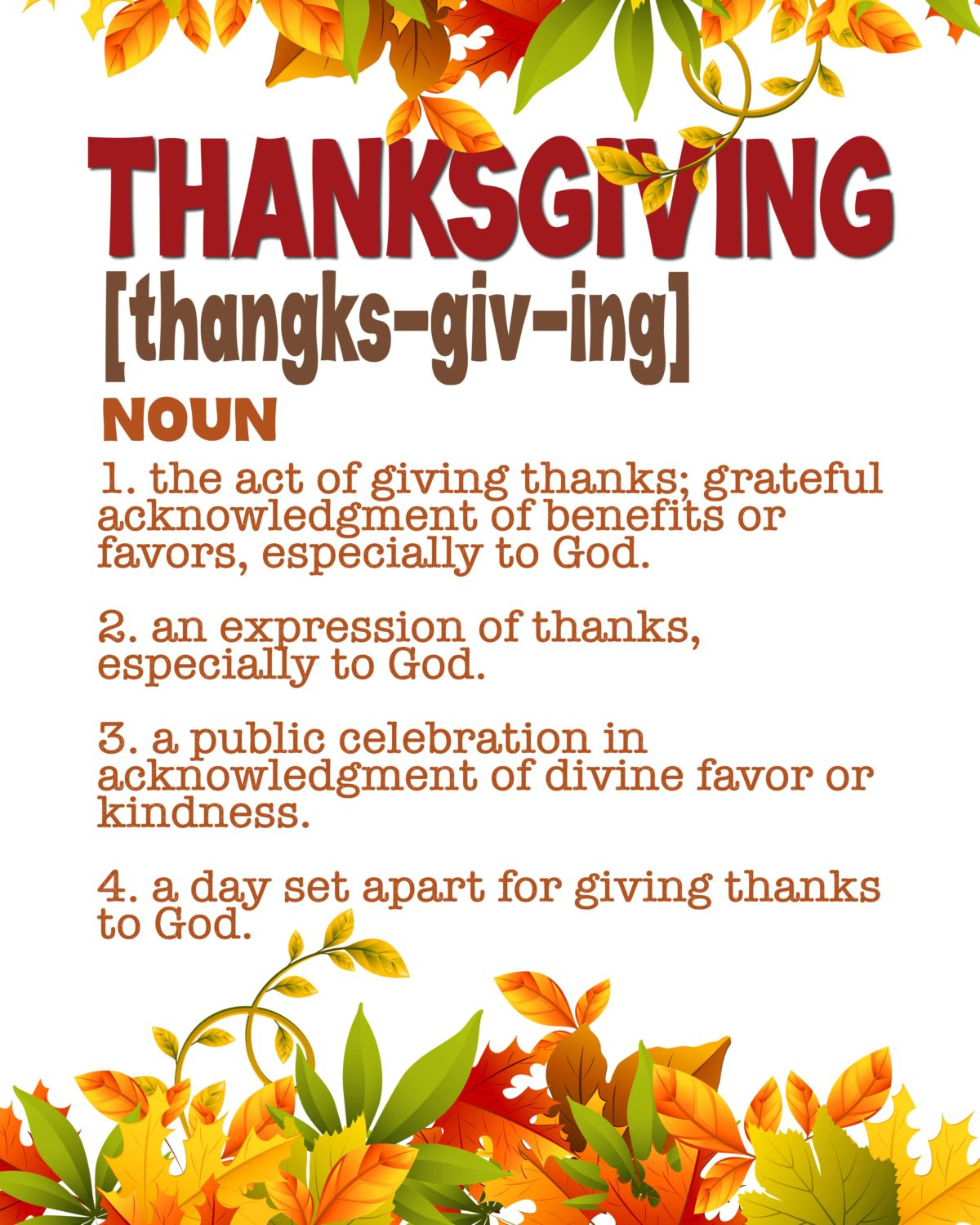 Thanksgiving Print – Definition