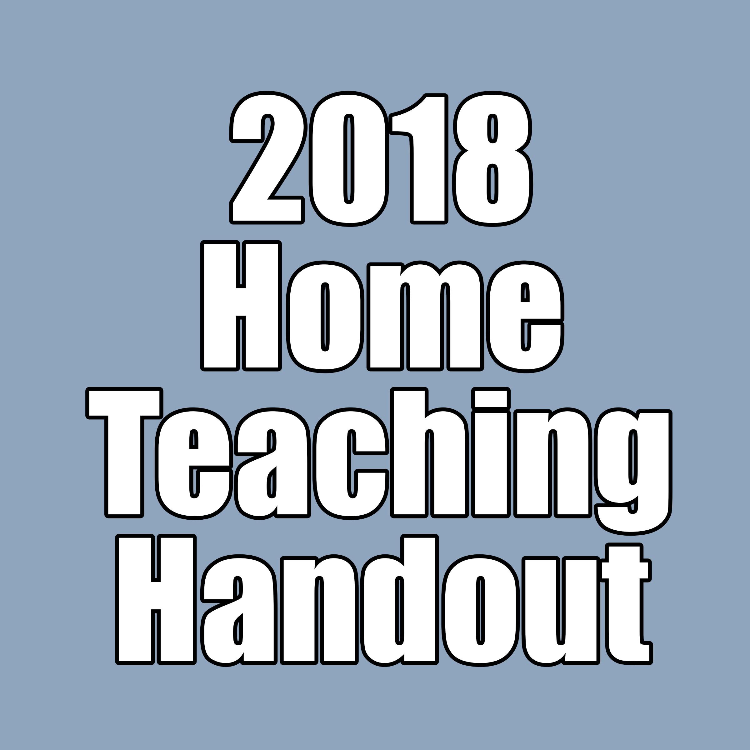 2018 home teaching handouts the idea door for Idea door yw