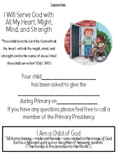 2018 Primary – I Am a Child of God – The Idea Door