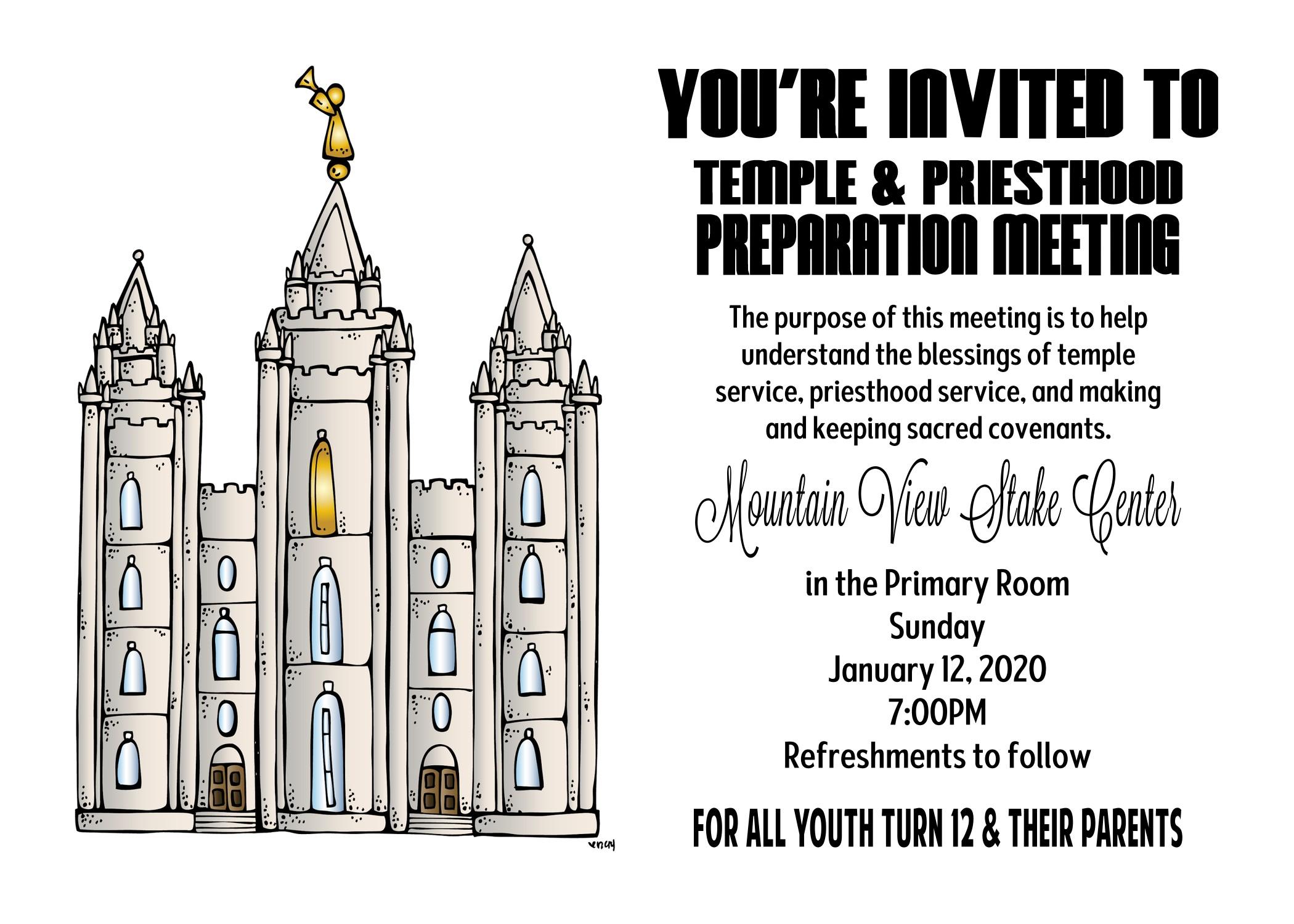 Temple and Priesthood Preparation – The Idea Door